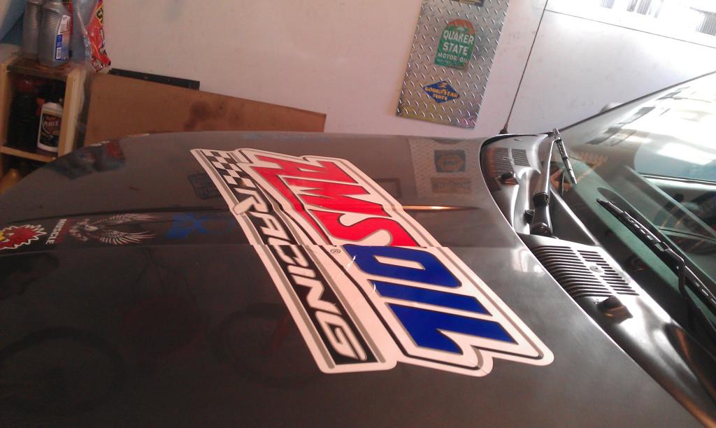 Amsoil sticker on Jeep